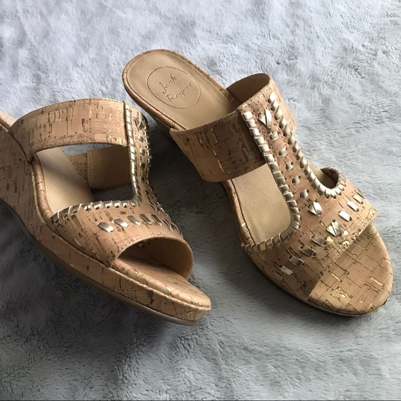 20bcf14e3f4 Jack Rogers Shoes - Jack Rogers Nora Wedge Sandal Gold Cork Slide